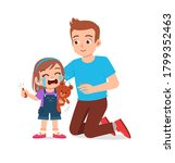 cute little girl crying and her ... | Shutterstock .eps vector #1799352463