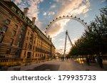 London Eye At Dusk In London...