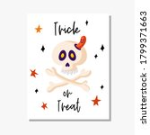 greeting card template with... | Shutterstock .eps vector #1799371663