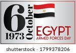6 october 1973 armed forces day....   Shutterstock .eps vector #1799378206