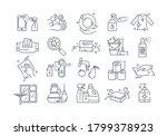 large set of black and white... | Shutterstock .eps vector #1799378923