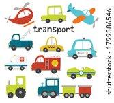 A Fun Set Of Colourful Vehicle...