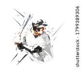 baseball player holding bat ...   Shutterstock .eps vector #1799389306