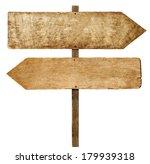 direction  wooden arrow signs | Shutterstock . vector #179939318