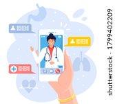 online doctor. virtual medicine....   Shutterstock .eps vector #1799402209