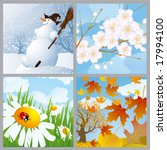 four seasons. vector.   Shutterstock .eps vector #17994100