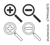 set of vector magnifier icons...