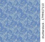 seamless vector flowers pattern ...   Shutterstock .eps vector #1799417113