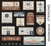 set of vintage clothing tags...