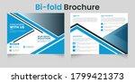 business bi fold brochure... | Shutterstock .eps vector #1799421373