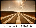 long straight road with runway... | Shutterstock . vector #179942144