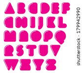 bubble font. vector geometric... | Shutterstock .eps vector #179942990