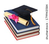 black graduation cap with...   Shutterstock . vector #179943584