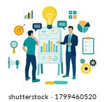 coaching and mentoring concept. ... | Shutterstock .eps vector #1799460520