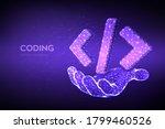 programming code icon. 3d low...   Shutterstock .eps vector #1799460526