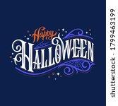 happy halloween vector... | Shutterstock .eps vector #1799463199