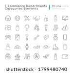 e commerce departments linear... | Shutterstock .eps vector #1799480740