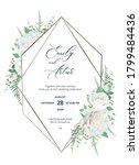 wedding trendy elegant invite ... | Shutterstock .eps vector #1799484436