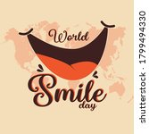 world smile day vector with big ... | Shutterstock .eps vector #1799494330