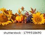 Greeting Autumn Card With Copy...