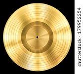 gold record music disc award... | Shutterstock . vector #179952254