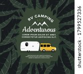 rv camping illustrations.... | Shutterstock .eps vector #1799527336
