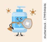 hand sanitizer cute mascot... | Shutterstock .eps vector #1799544646