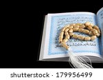 tasbih  moslem prayer beads and ... | Shutterstock . vector #179956499
