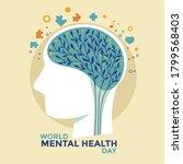 world mental health day concept ... | Shutterstock .eps vector #1799568403