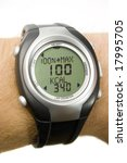 heart rate monitor   giving 100  | Shutterstock . vector #17995705