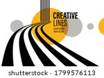 3d black and white lines in... | Shutterstock .eps vector #1799576113