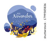 monthly calendar page with text ... | Shutterstock .eps vector #1799585836