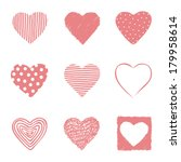 set of hand drawn hearts. eps... | Shutterstock .eps vector #179958614