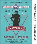 american football flyer.... | Shutterstock .eps vector #1799593039