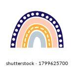 boho rainbow icon isolated on... | Shutterstock .eps vector #1799625700