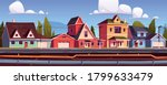 suburb houses and underground... | Shutterstock .eps vector #1799633479