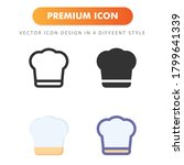 chef hat icon isolated on white ...