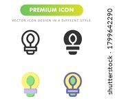 ecologic light icon isolated on ...