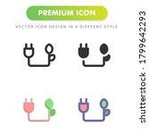 plug icon isolated on white...