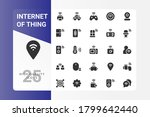 internet of thing icon pack...