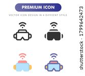 virtual reality icon isolated...