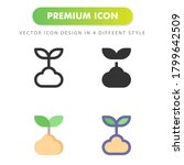 sprout icon isolated on white...