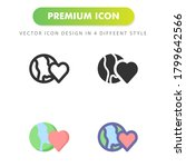 love earth icon isolated on...