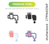water tap icon isolated on...