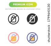 no plastic icon isolated on...