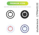 power bolt icon isolated on...