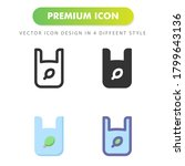 eco plastic icon isolated on...