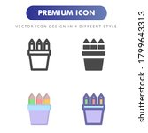 stationery icon isolated on...
