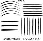 black line  grunge brush... | Shutterstock .eps vector #1799654116