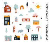 Vector Clipart With Cute City...